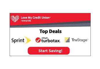 Love My Credit Union Rewards Top Deals with Sprint, TurboTax and TruStage
