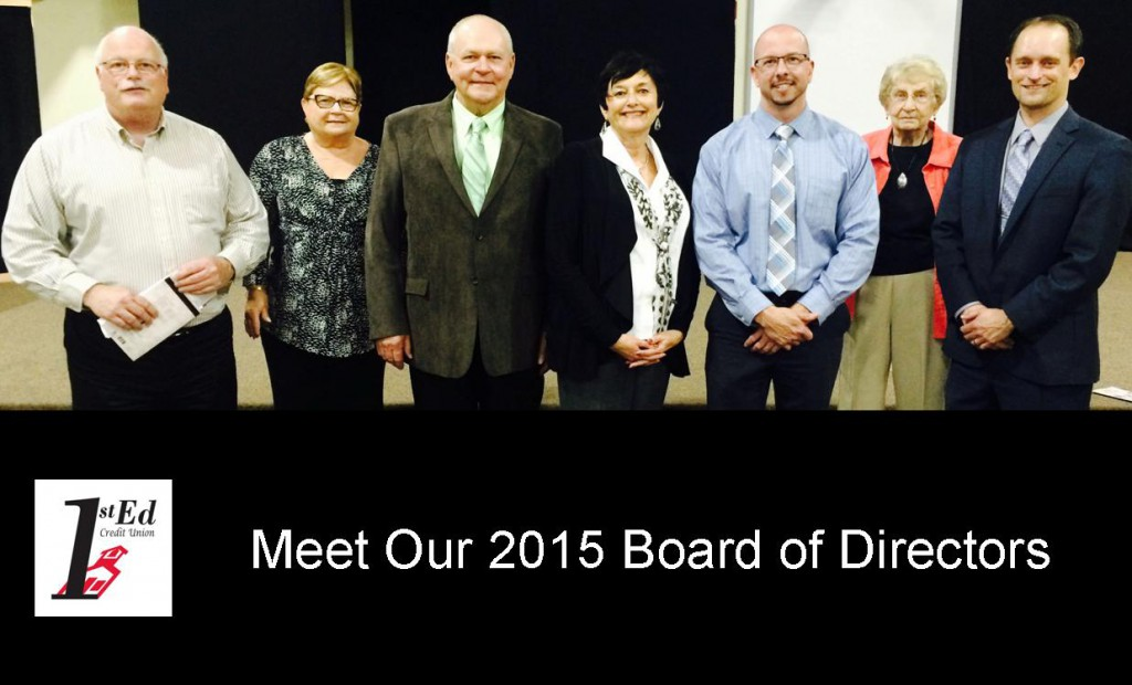 Meet 1st Ed Credit Union's 2015 Board of Directors