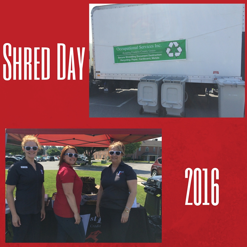 1st Ed CU Shred Day June 2016