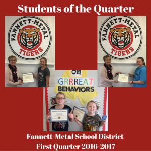 Students of the Quarter - Q1 2016-2017