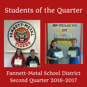 Students of the Quarter - Q2 2016-2017