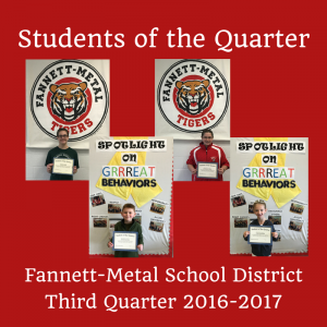 Students of the Quarter - Q3 2016-2017 photos