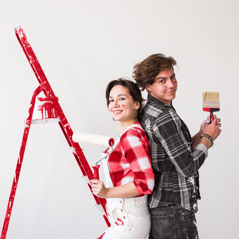 Teamwork - Paint - Man - Woman - Couple -SM
