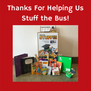 thanks for helping us stuff the bus!