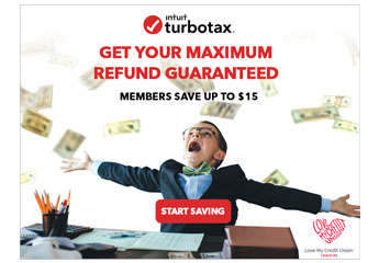 Intuit TurboTax. Get Your Maximum Refund Guaranteed. Start Saving! Members save up to $15. Love My Credit Union Rewards.