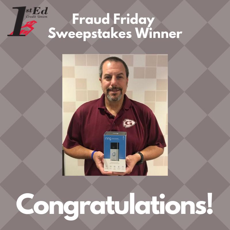 Fraud Friday Sweepstakes Winner 2019