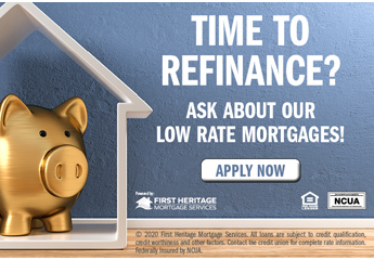 time to refinance? ask about our low rate mortgages. apply now.